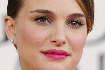Woolies girl: Natalie Portman.