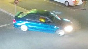 Police would like to speak to the driver and passenger of this car, who may have witnessed the incident.