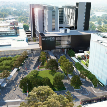 An artistic impression of what Westmead Hospital could look like.