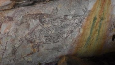 One of the rock paintings dated by the team.