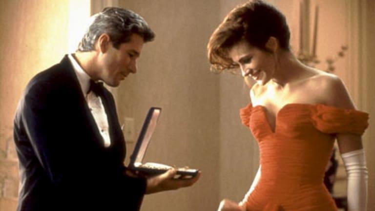 Julia Roberts in Pretty Woman.