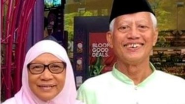 Grandfather Nasiari Sunee, 73, with his wife.