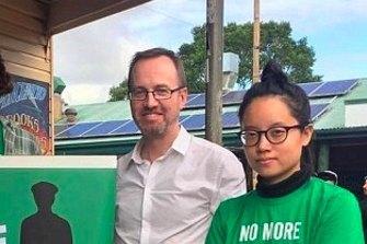 Xiaoran Shi with David Shoebridge.