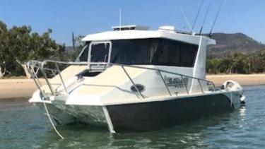 The six-metre Sailfish 3000 catamaran involved.