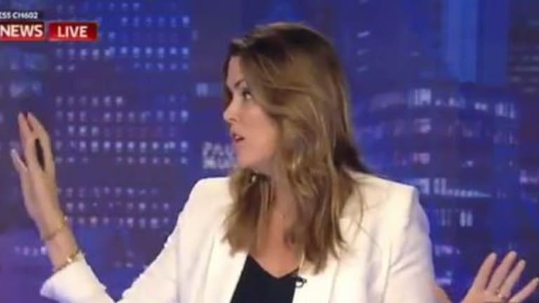 """Sky host Peta Credlin accused her colleagues of being """"all piss and wind"""" in 2017."""