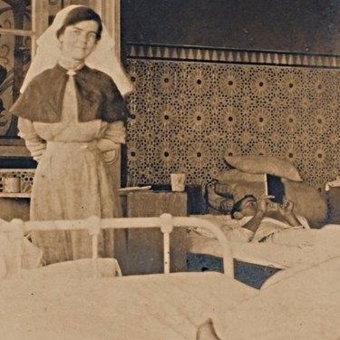Constance Keys nursing patients in Egypt.