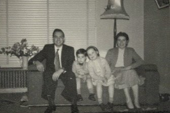 Bob and Ann with children Peter and Chris in the 1950s.