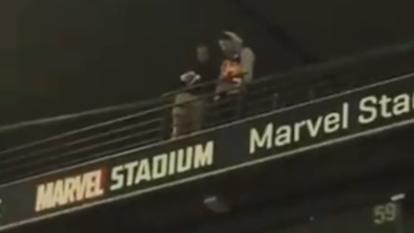 Footy fan filmed 'spitting' on Marvel crowd