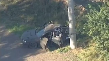 The Wollert crash in which three people left their friend to die on January 5, 2018.
