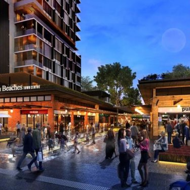 An artist's impression of the proposed town centre at Frenchs Forest.