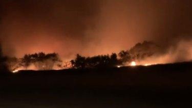 A bushfire rages this week in Teewah in the Sunshine Coast region.
