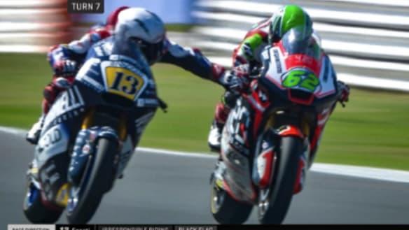 Moto2 rider Romano Fenati dropped by team after grabbing rival's brake