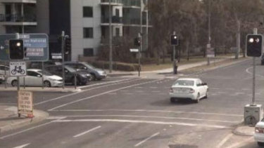 A sample image of a red light camera infringement photo, which will now be accessible for free online to ACT drivers who receive a traffic infringement notice.