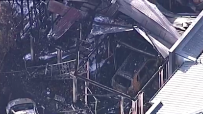 Woman, two children in hospital after fire destroys Brisbane home