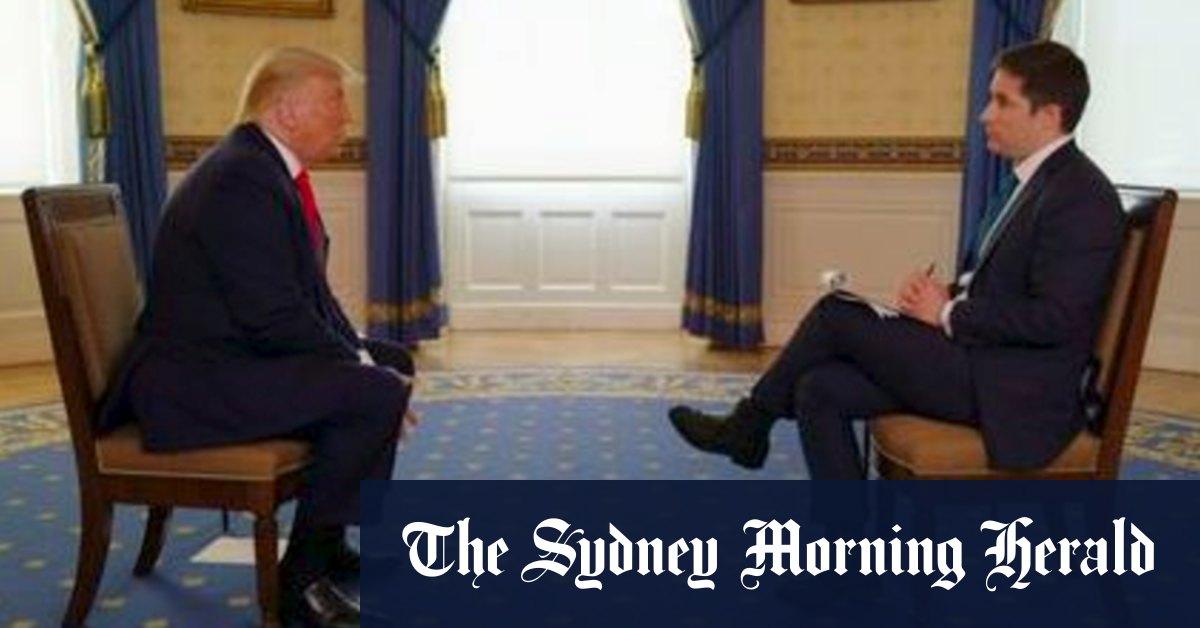 The Stuff Of Memes Australian Reporter S Hard Hitting Trump Interview Goes Viral Sydney Morning Herald Australian News