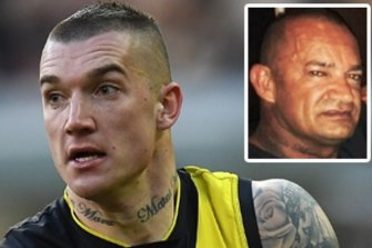 Dustin Martin and his father Shane Martin (inset).