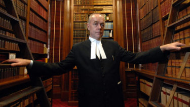 Justice Lex Lasry in Victoria's Supreme Court Library in 2007, the year he became a Supreme Court judge.