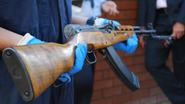 A file image of an SKS assault rifle similar to the type of weapon Ricky Maddison was armed with.