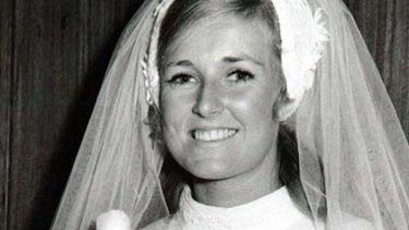 Lynette Dawson on her wedding day.
