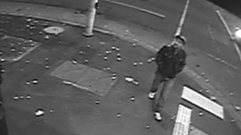 The man is believed to be Indian in appearance with short black hair.