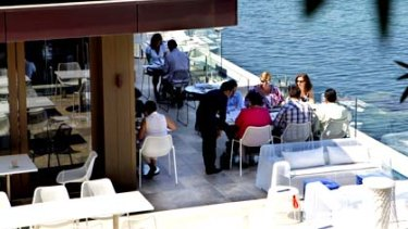 Patrons enjoy the waterfront experience at a previous incarnation of Manly Pavilion.