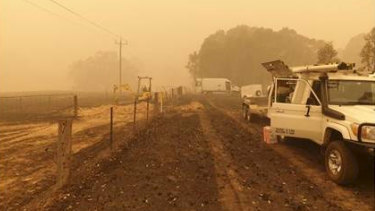 Telstra is working to get telecommunications back up and running in fire-ravaged communities in Victoria.