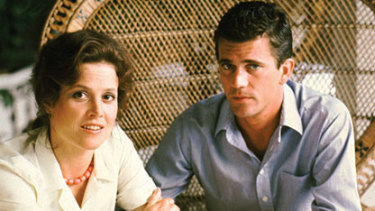 Sigourney Weaver and Mel Gibson in The Year of Living Dangerously (1982). Screenplay by Williamson.