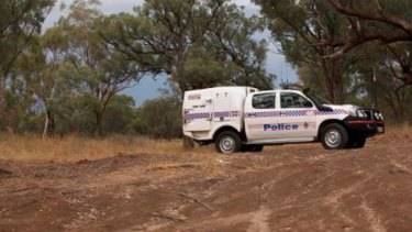 Police search for a missing woman in Wallaby Creek, Rossville, at the weekend.