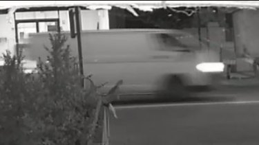 'Suspicious' white van captured on CCTV near 12RND Fitness gym in Bedford.