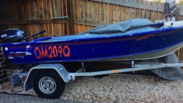 Water police and other agencies are searching for this boat in Moreton Bay.