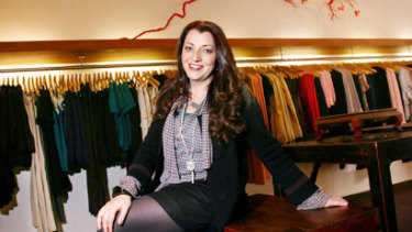 Fashion designer Teresa Liano in her shop last week.