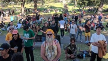 Marijuana enthusiasts at the event.