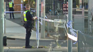 The attack unfolded near Seaford train station.