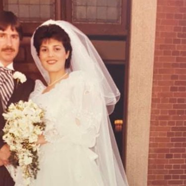 Grace Grace attained her double name when she married Michael Grace at Holy Spirit Church in New Farm in 1985.