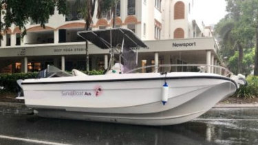 """Police described the boat as a """"fishy"""" discovery."""