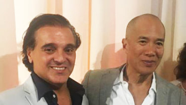 Carlo LoGiudice (left) with neurosurgeon Charlie Teo.