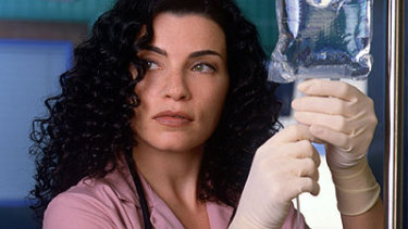 Margulies as Nurse Hathaway in the hit medical drama ER.