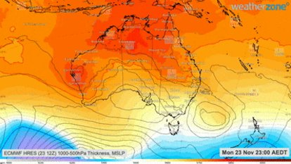 Sydney temperatures set to soar over weekend as NSW heatwave forecast