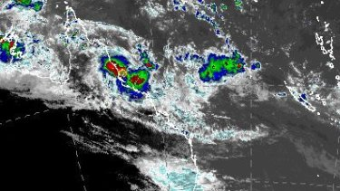 Cyclone Kimi is hanging off the Queensland coast, near Cairns.