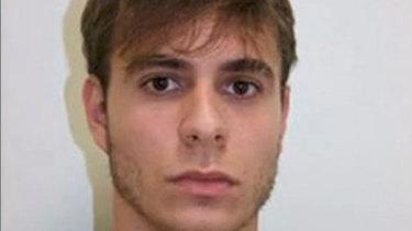 Mugshot of Patrick Nogueira after being arrested in Spain.