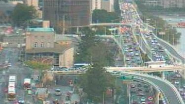 Drivers can expect hour-long delays from the city to Brisbane's southside.