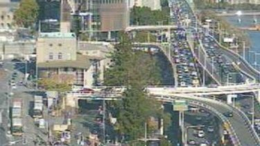 Crashes have caused delays in the Brisbane CBD on Friday afternoon.