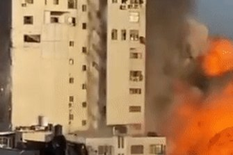 A building in Gaza bombed by Israel.
