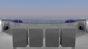 The changes to the front viewing area on the new CityCats.