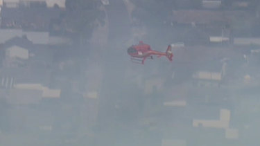 A helicopter from Plenty Gorge threatens homes in Bundoora and Mill Park.