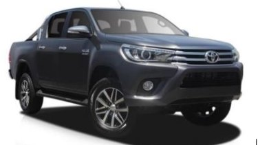Investigators believe the vehicle was a dark grey 2017 Toyota Hilux SR5 dual-cab ute, with a chrome roll bar on the rear tray and stock wheels.