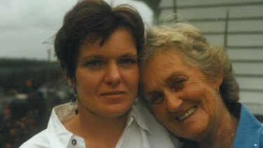 Barbara Farrelly (left) and her mum.