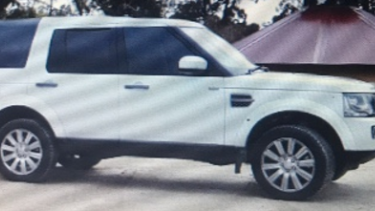 The white 2016 Land Rover Discovery Wagon, registered AJT 166.