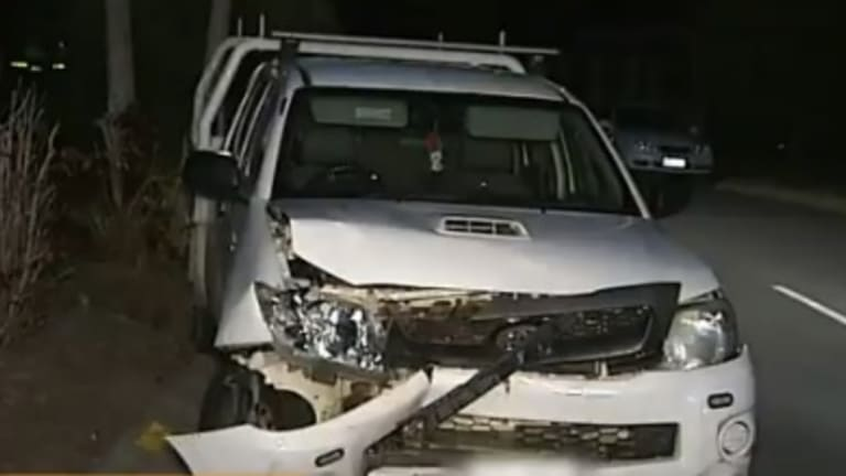 Two Officers Hit Police Cars Damaged After Gold Coast Chase