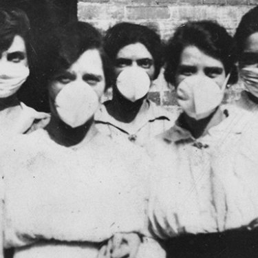Masks were made compulsory during the Spanish flu outbreak in Australia.